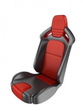 Sports car seats isolated on white background 3d