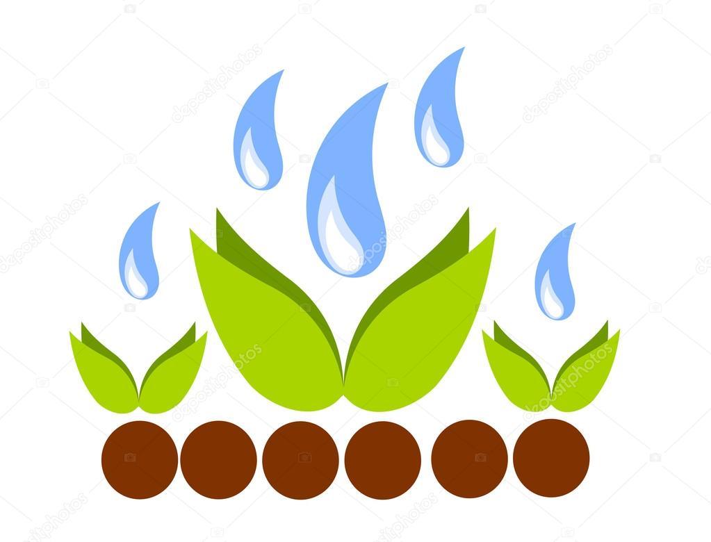 Plants culture illustration