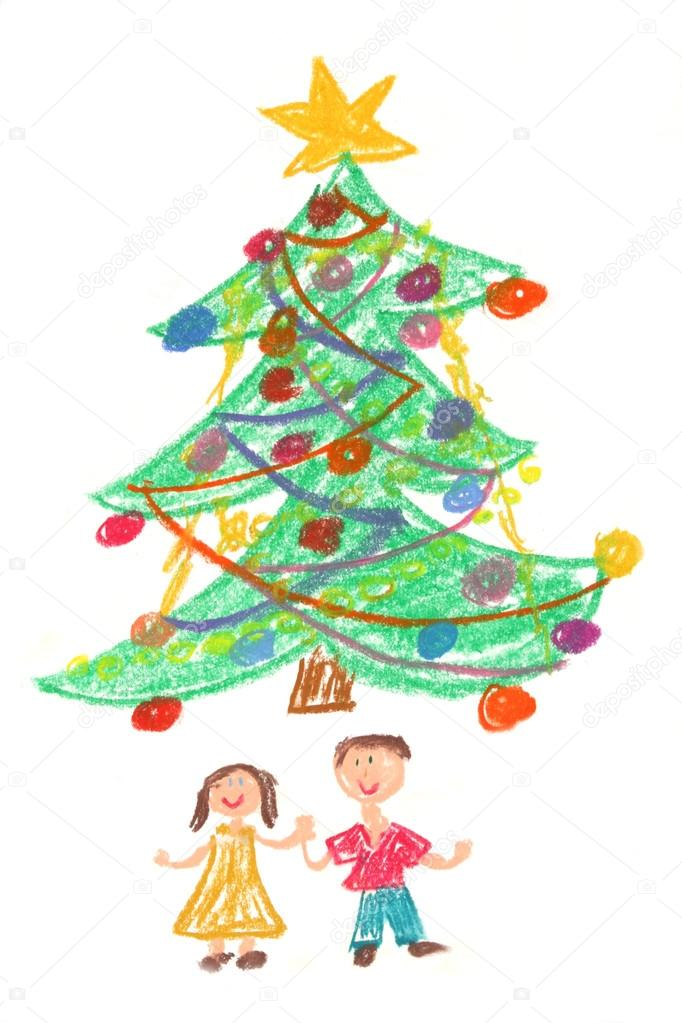 Christmas Trees Drawing.Pictures Christmas Trees To Draw Children And Christmas