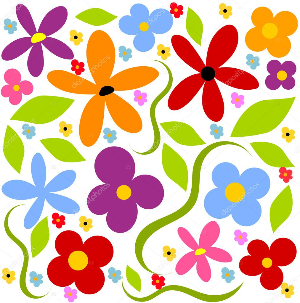 Flower meadow background