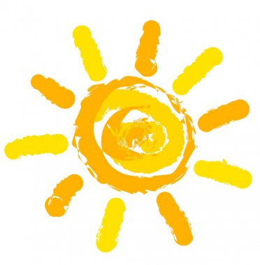 Sun symbol illustration stock vector