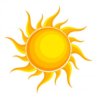 Sun. Vector illustration stock vector