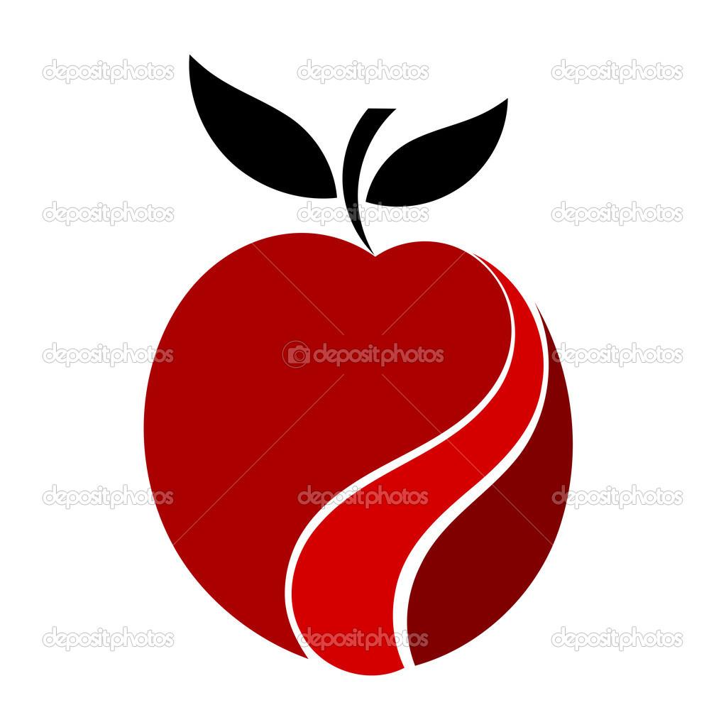 Apple Symbol Stock Vektor Studiobarcelona 30446553