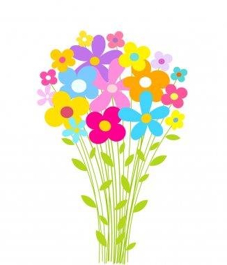 Flowers bouquet. Vector illustration stock vector