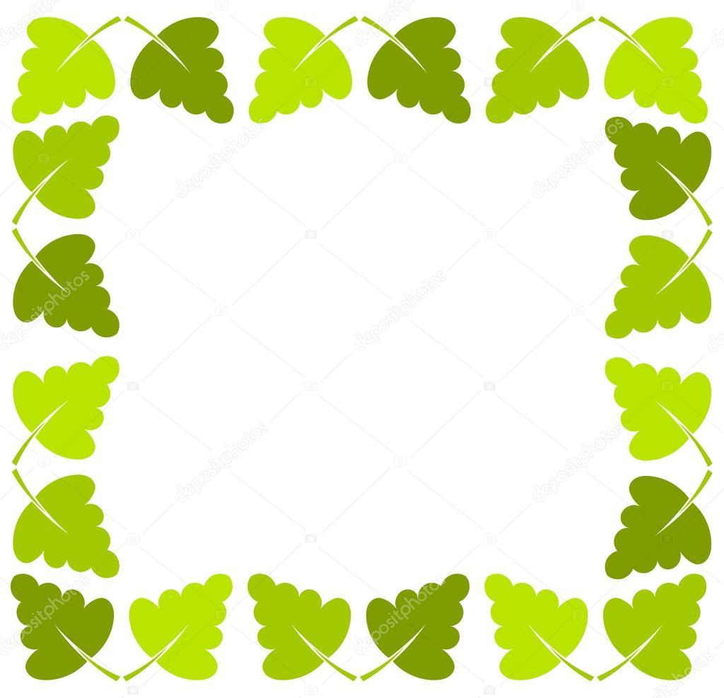 leaf border stock vector studiobarcelona 32409193 rh depositphotos com