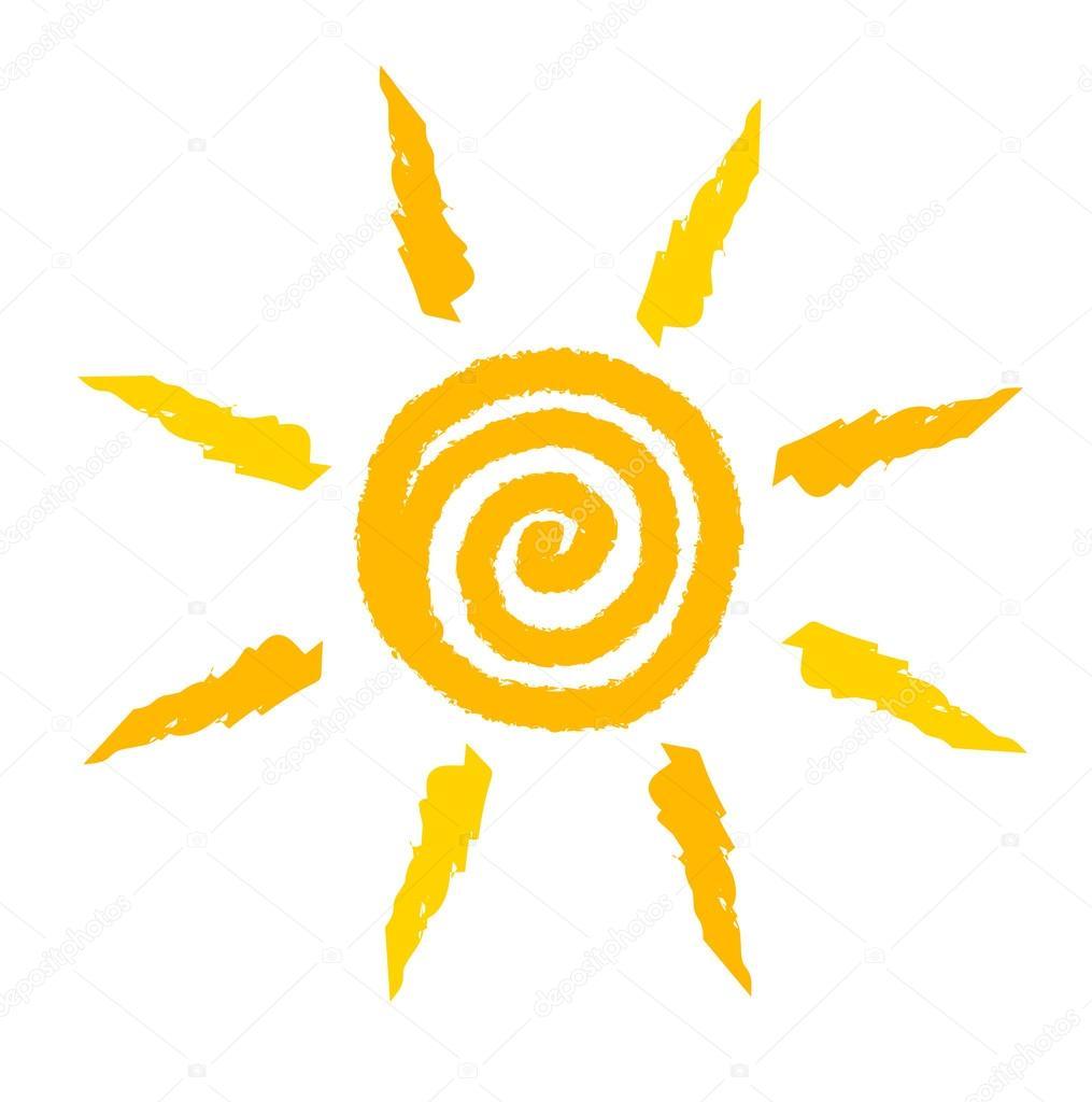 sun swirl stock vector studiobarcelona 49581839 rh depositphotos com sunburst swirl vector swirl sun vector