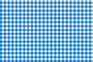 Italian picnic tablecloth pattern with blue stripes