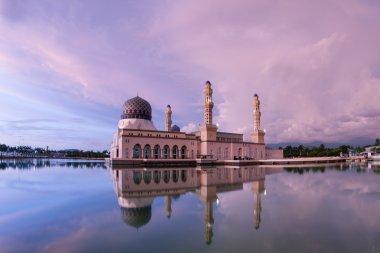 Floating Bandaraya Kota-Kinabalu, Sabah Borneo Malaysia Mosque at Sunrise