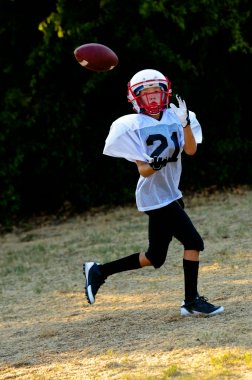 Young american football player