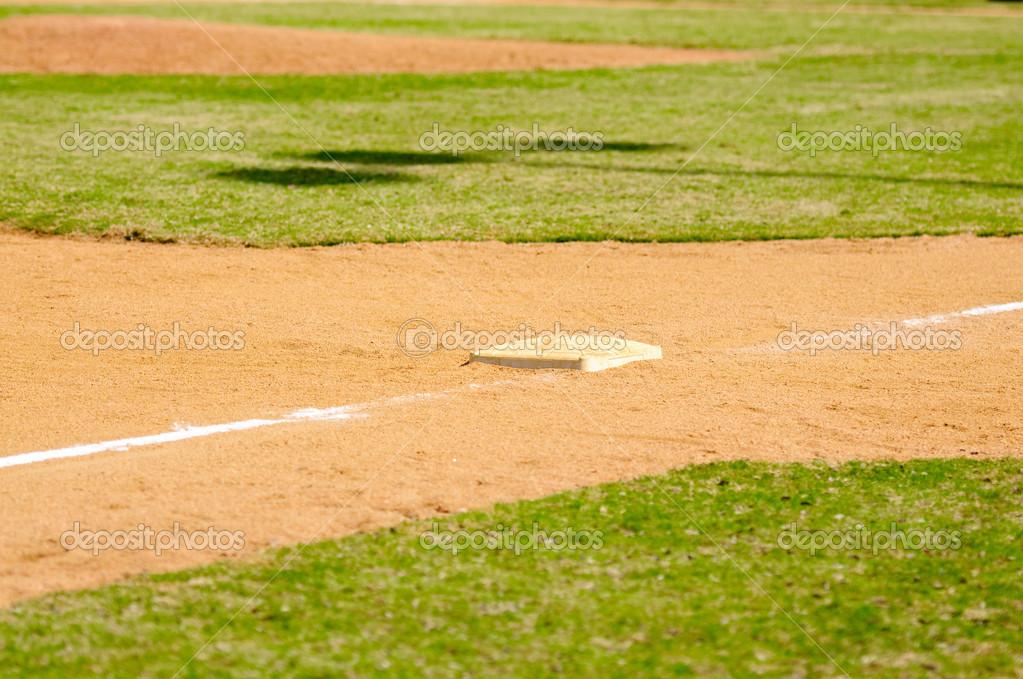 三塁ベース — ストック写真 © ta...