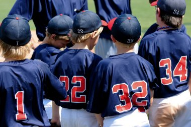 Team of little league baseball players