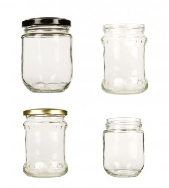 Set of glass jar