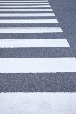 Zebra crossing from empty street