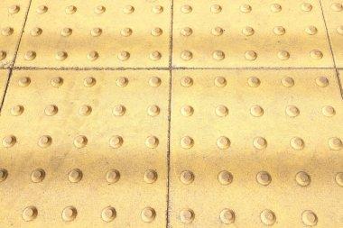 Yellow tactile strip
