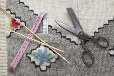 Various knitting accessories