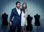 módní styl fotografie pohledný mladý pár