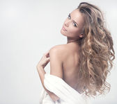 Fotografie portrét krásné blond ženy