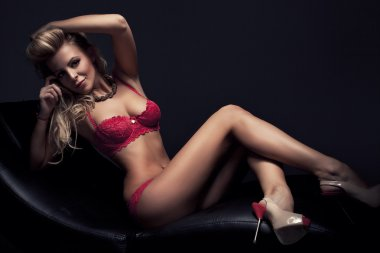 Beautiful fashion woman in lingerie