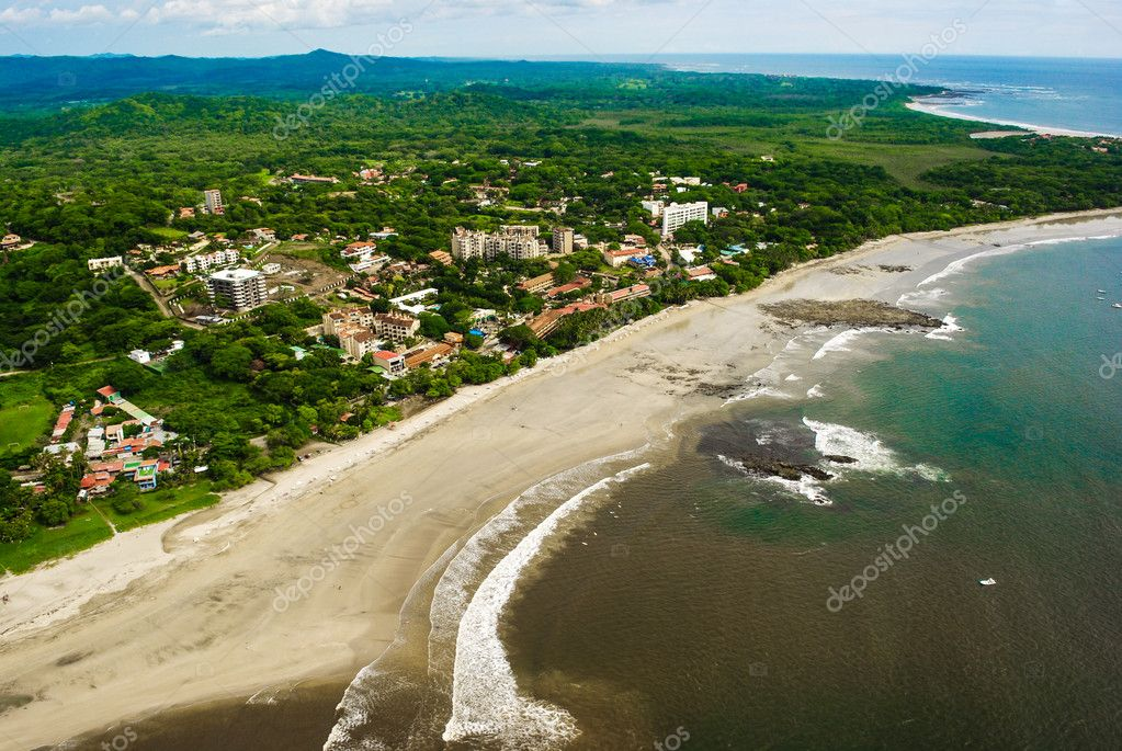 Costa Rica Beach from the Air