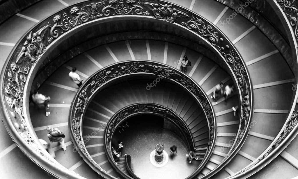 Vaticaanse museum trap u2013 redactionele stockfoto © dvanstaden #29816705