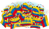 Photo Colombia Soccer fans