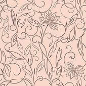 nahtloses Muster Lotus vertikal rosa