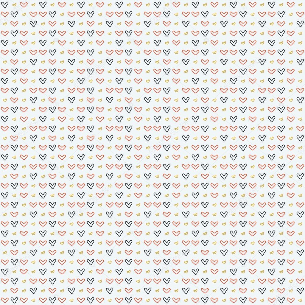 símbolos sencillos del corazón. patrón sin costuras — Archivo ...