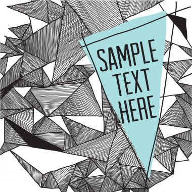 Geometric pattern modern background with place for your text. Gr