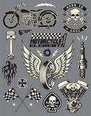Motorkerékpár vektor elemek beállítása