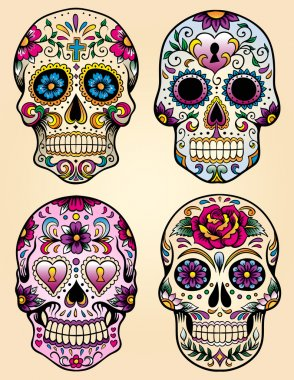 Day of the dead vector illustration set
