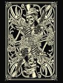klassische Skelett-Spielkarte