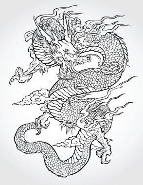 Dragon Tattoo Illustration