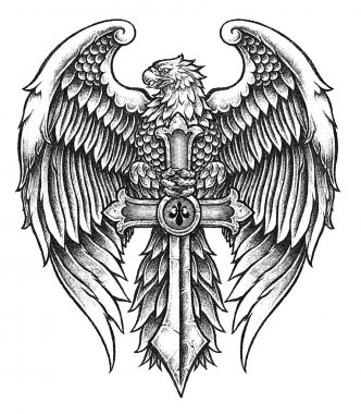 Highly detailed Eagle with Sword