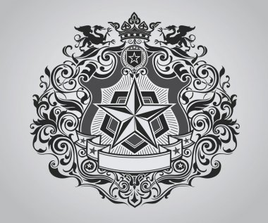 Ornate Shield Crest Design