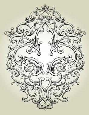 Fleur de Lis Frame clip art vector