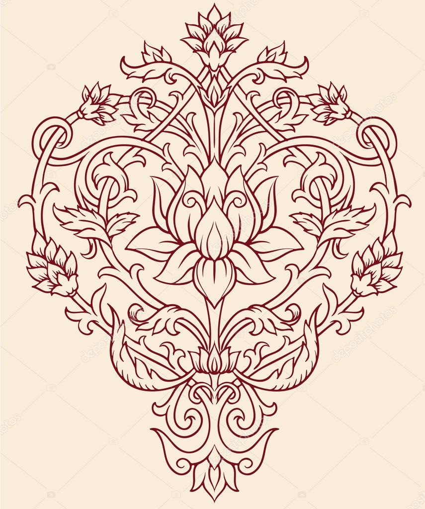 Ornate lotus flower vector pics stock photos all sites decorative lotus flower izmirmasajfo