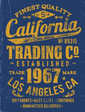 Vintage Type Lock-Up Apparel Design