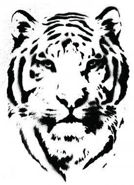 Tiger Stencil Vector