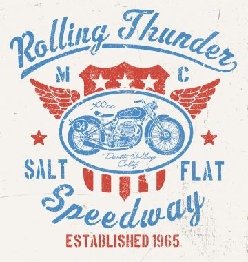 Rolling Thunder Vintage Motocycle Graphic
