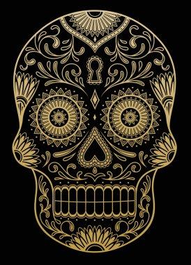 Ornate One Color Sugar Skull