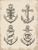 Photo Hand Drawn Anchor Set