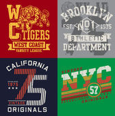 Vintage T-shirt Graphic Set