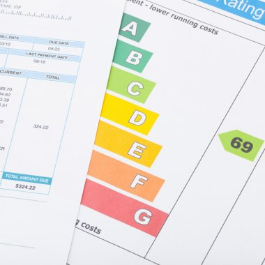 Utility bill and energy rating chart - 1 to 1 ratio