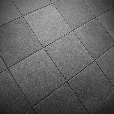 Gray Square Tile Floor