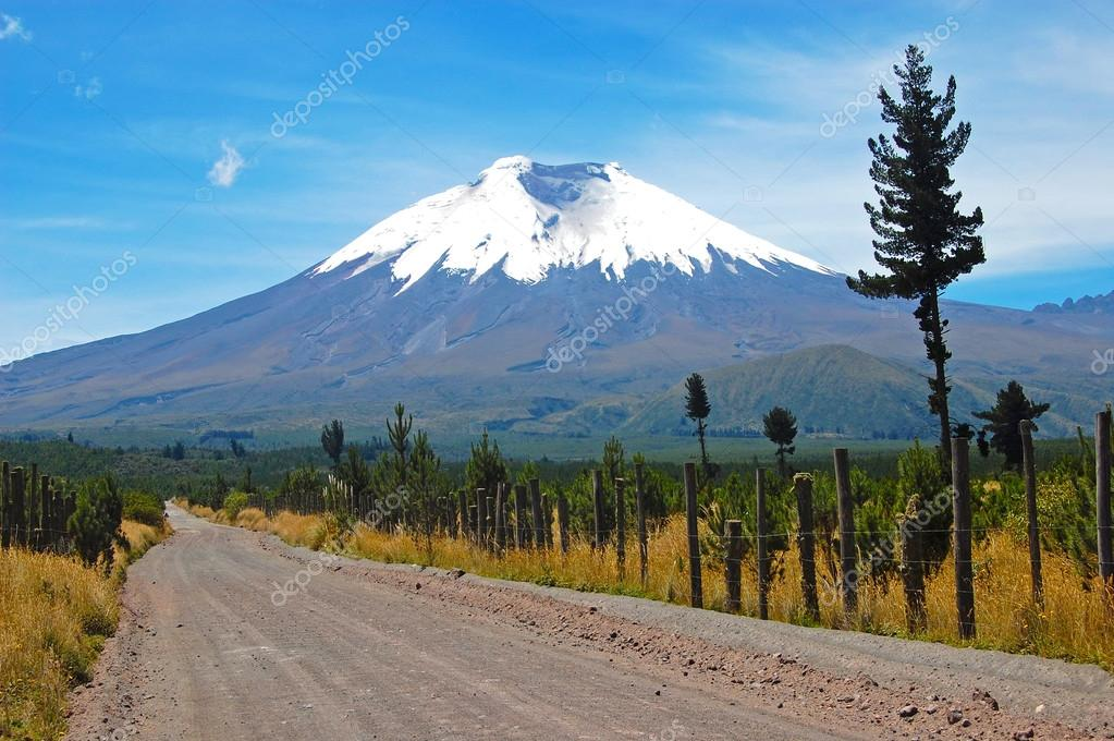 Dirt road to the Cotopaxi volcano