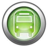 ikony, tlačítka, piktogramem autobus, pozemní doprava