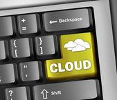 Keyboard Illustration Cloud Computing