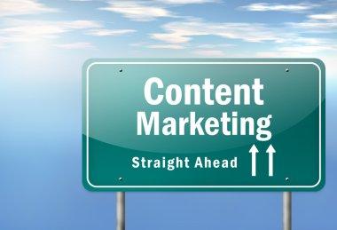 Highway Signpost Content Marketing