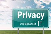 Dálnice rozcestník soukromí