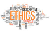Fotografie Word Cloud Ethics